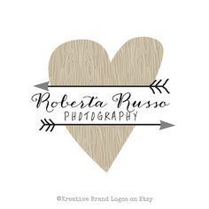 Rustic Heart logo premade and customizable with by KreativeBrand, $16.95