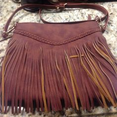 Long satchel purse Brown fashionably fun bag in perfect condition! Charmin Charlie's Bags Satchels