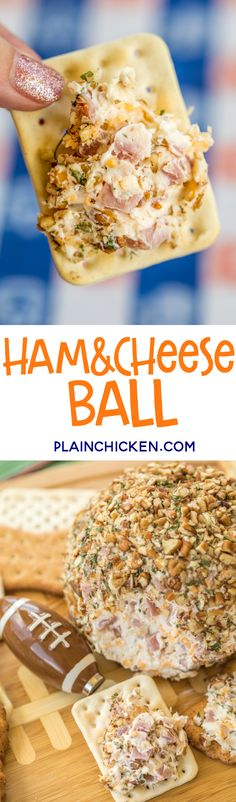 Ham and Cheese Ball recipe dangerously delicious Great for tailgating and holiday parties Ham Ham and Cheese Ball recipe dangerously delicious Great for tailgating and holiday parties Ham snowstorm snowstorm Ham nbsp hellip Cheese Ball Party Dip Recipes, Tailgating Recipes, Tailgate Food, Party Snacks, Appetizers For Party, Party Party, Party Games, Party Drinks, Ham And Cheese Ball Recipe