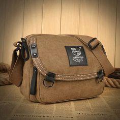 120473135218 Vintage Canvas Casual Messenger Bag Shoulder Bag Crossbody Bag For Men