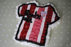 La camiseta de tu equipo de fútbol favorito... Athletico de Bilbao Real Madrid Atletico, Bilbao, Cake, Desserts, Supreme T Shirt, Bonbon, Football Team, Coat Of Arms, Meet