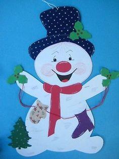 Fensterbild*Tonkarton*Schneemann Rudi XL*Winter* Weihnachten*Deko