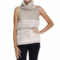 Pinko maglia Kimolos Lurex/Ecolpelliccia