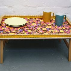 Vintage folding table/breakfast tray - Vintage Actually Breakfast Tray, Floral Prints, Outdoors, Camping, Table, Furniture, Vintage, Campsite, Floral Patterns