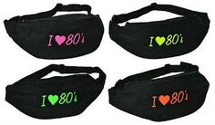 I Love the 80s Neon Bum Bags