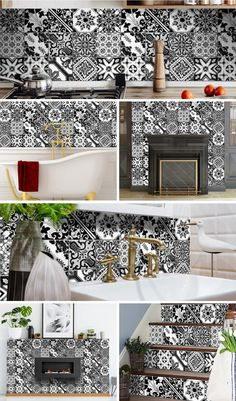 Stunning and colorful set of 24 removable high-quality vinyl tile stickers #stickers #tilestickers #walltilestickers #homedecor #roomdecor #hometilestickers #decortivetilestickers #kitchentilestickers #bathroomtilestickers #stairtilestickers #kitchendecor Ultimate solution for budget-savvy design enthusiasts looking to add a personalized and colorful touch to their space. The stickers are so easy to apply and remove! House Tiles, Wall Tiles, Kitchen Tile, Kitchen Decor, Bathroom Tile Stickers, Decorative Tile, Animal Print Rug, Arts And Crafts, Budget