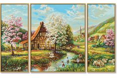 Landelijke idylle, schilderen op nummer pakket van Schipper.