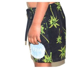 Kids palm tree board shorts / cute kids clothing / beach surf street style / Tevita clothing