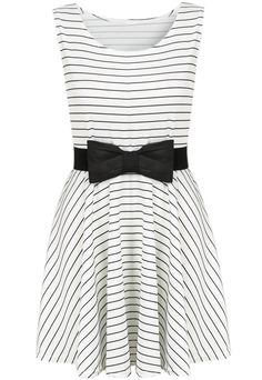 Striped Sleeveless Bow Dress