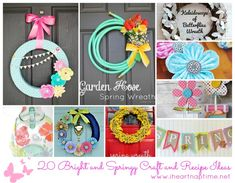 Top 20 Spring Ideas on I Heart Nap Time ...love those wreaths!