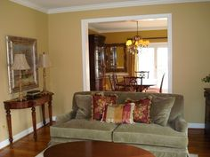Sw Restrained Gold Paint Color For Living Room Would Go With Our Olive Green