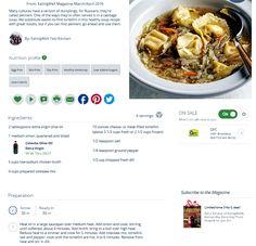 Russian Tortellini Soup  http://www.eatingwell.com/recipe/251367/russian-tortellini-soup/
