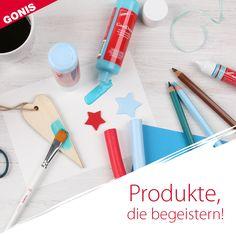 Verblüffende Produkte, inspirierende Ideen und immer neue Anregungen. Mit den Produkten von GONIS! Plastic Cutting Board, Office Supplies, Blog, Creative Ideas, Decorating, School, Ad Home, Blogging