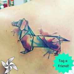 How about #origami tattoo? Tag a friend who would love that! Image source: dnes_tetujem