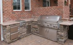 Custom Built Outdoor Kitchens - 2011 L Shape Kitchen