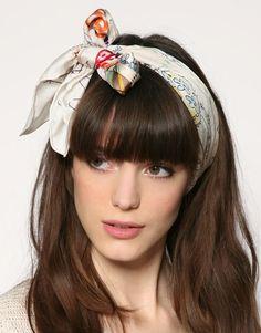Cute hair and scarf