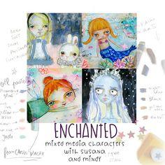 Susana Tavares: Giveaway -1 spot in the Enchanted mixed media char...