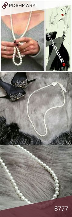 Chic and classy strand of pearls Brand new no tags, boutique   Add this chic and classy strand of pearls to any of your outfits for an on trend look! We are seeing pearls all over the runways and in magazine. Wear 1 or ten, the more the merry. Pearl are a girls bestfriend!  Heavy Faux pearls, slip over your head style Jewelry Necklaces