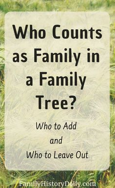 genealogy Deciding who to include in a family tree and who to leave out can be confusing. Here's some help for deciding - including adding adopted, stepparent, foster and other non biologic Free Genealogy Sites, Genealogy Forms, Genealogy Chart, Family Genealogy, Genealogy Humor, Family Tree Research, Family Tree Chart, Family Trees, Family Tree Maker