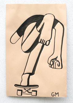 La armonía visual de los dibujos de Geoff Mcfetridge GM skater 2