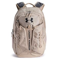 Featuring plenty of storage space to hold your essentials, this Under Armour Contender backpack is perfect for everyday use. Cute Backpacks For School, Cool Backpacks, Teen Backpacks, Leather Backpacks, Best College Backpacks, Leather Bags, Mochila Under Armour, Under Armour Rucksack, College Supplies