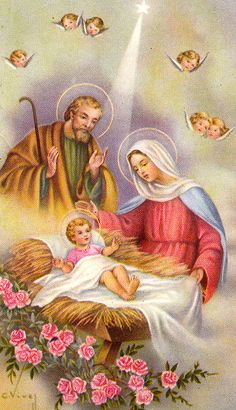 Jesus Christ is born Images Vintage, Vintage Christmas Images, Antique Christmas, Christmas Pictures, Christmas Nativity, Christmas Angels, Christmas Art, Christmas Greetings, Family Christmas