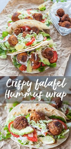 Make Crispy Falafel in a Hummus Wrap at home easily for your perfect lunch or meal-prep. This recipe is Vegan. Make Crispy Falafel in a Hummus Wrap at home easily for your perfect lunch or meal-prep. This recipe is Vegan. Vegetarian Wraps, Vegan Wraps, Vegetarian Recipes, Vegan Hummus Wrap, Vegetable Recipes, Falafel Wrap, Wrap Recipes, Lunch Recipes, Cooking Recipes