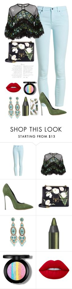 """Untitled #158"" by nana-jeje ❤ liked on Polyvore featuring Barbour, Costarellos, Casadei, Dolce&Gabbana, Miguel Ases, Lime Crime and Sonix"