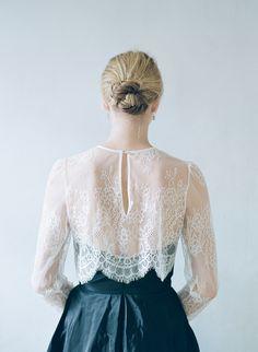 lace + bun   Ethereal Bridal Fashion by Alexandra Grecco