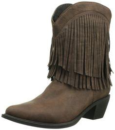 Roper Women's Shorty Fringe Boot - http://shoes.goshopinterest.com/womens/boots/snow/roper-womens-shorty-fringe-boot/