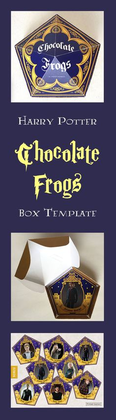 This printable Harry Potter Chocolate Frog Box Template is perfect for your next Harry Potter party or to give to the Harry Potter lover in your life. #ad #harrypotterfan #potterhead #party #birthdayparty #template #printable #pdf #etsy