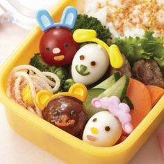Japanese Bento Deco Animal Face Cutter and Ears Food Pick Set Japanese Bento Lunch Box, Food Cutter, Animal Dress Up, Cute Bento Boxes, Nori Seaweed, Bento Recipes, Mini, Kitchen Shop, Food Picks