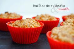 recetas de tía Alia: Muffins de ruibarbo con crumble