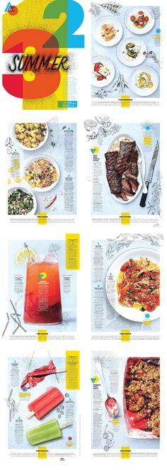 Alaina Sullivan Bon Appetit magazine, June 2014. Illustrations by Lucy Engelman