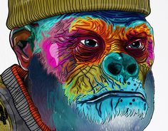 """Check out new work on my @Behance portfolio: """"Some people are descended from apes."""" http://be.net/gallery/48769387/Some-people-are-descended-from-apes"""
