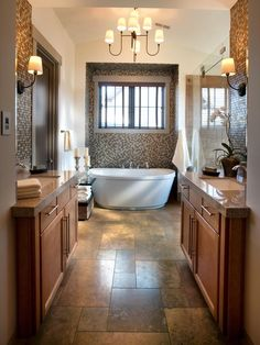 HGTV Dream Home 2012: Master Bathroom Pictures  and the bath...  All glamour and luxurious fixtures, the master bath offers a spa escape.