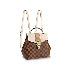 View 1 - Clapton Backpack Damier Ebene Canvas in Women's Handbags All Handbags collections by Louis Vuitton Damier Louis Vuitton, Sacs Louis Vuiton, Louis Vuitton Backpack, Louis Vuitton Handbags, Purses And Handbags, Cheap Handbags, Versace Handbags, Burberry Handbags, Collection Louis Vuitton