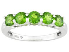 1.70ctw Round Russian Chrome Diopside Sterling Silver Ring Erv $90.00