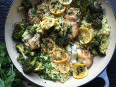 Ginger-Lemon Cod with Roasted Broccoli and Rice