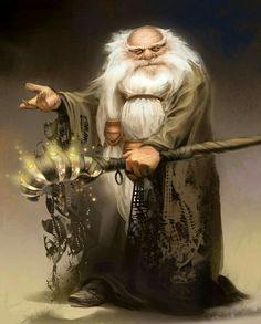 Dwarf Wizard - Pathfinder PFRPG DND D&D d20 fantasy