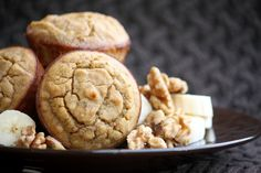 Grain-Free Banana Walnut Muffins (5 Minute Prep)
