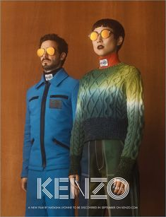 Kenzo enlists James Ransone and Greta Lee as the stars of its fall-winter 2017 campaign.