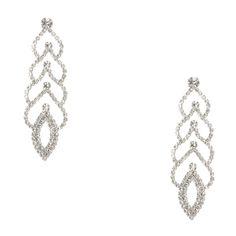 Crystal Scalloped Drop Earrings