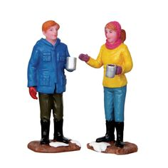 Two people having a casual conversation over coffee - Product Type: Figurine - Approx. size (H x W x D): 2.76 x 0.00 x 0.00 inches 7 x 0 x 0 cm