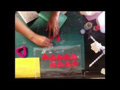 Gumpaste peony rose using love shape cutter part 1 - YouTube