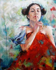 """54 Me gusta, 10 comentarios - Castrolara. Nieves (@ncastrolara) en Instagram: """"Cuando  terminas una obra y te sientes  satisfecha. 😊pájaro azul. De la serie Silencios.…"""" Painting, Instagram, Art, Bluebirds, Art Background, Painting Art, Kunst, Paintings, Performing Arts"""