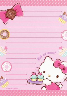 """Sanrio Hello Kitty 144-Sheet Memo (2016) 