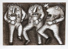 Artist: Enrico Baj, Italian (1924 - 2003) Title: Decorati Medium: Etching, signed and numbered in pencil Image Size: 17 x 25 inches Size: 21.5 in. x 29.5 in. (54.61 cm x 74.93 cm)