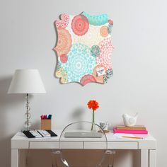 Monika Strigel Happy Go Lucky Quatrefoil Magnet Board   DENY Designs Home Accessories