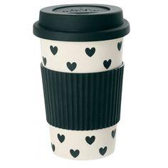 Tasse Mug à emporter coeurs noirs miss etoile